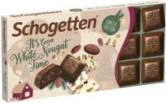 Шоколад молочный Schogetten с кусочками белой нуги 100 гр