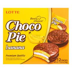 Печенье Lotte Сhoco Pie Banana 336 грамм