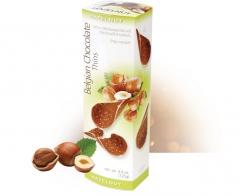 Бельгийские шоколадные чипсы с фундуком 80 грамм