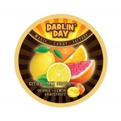 Карамель леденцовая DARLIN DAY CITRUS MIX цитрусовый микс апельсин, лимон, грейпфрут 180 грамм