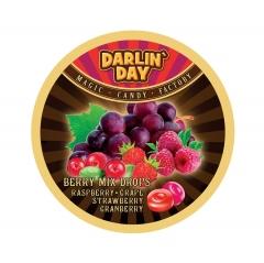 Карамель леденцовая DARLIN DAY BERRY MIX ягодный микс малина, виноград, клубника, клюква 180 грамм