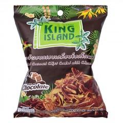 Кокосовые чипсы KING ISLAND с шоколадом (40 грамм)