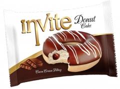 Пончик DONAT INVITE (шоколадная начинка) 40 грамм