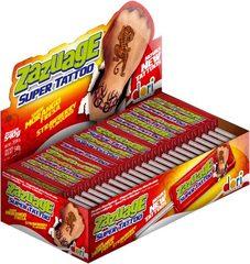 Жеват. конфета на палочке Zazuage Strawberry SuperTattoo 10,8 грамм
