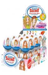 Шоколадное яйцо с игрушкой Mega Secret Модные подружки 20 гр