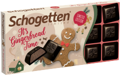 Шоколад темный Schogetten с кусочками имбирных пряников 100 гр