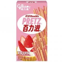 Хлебные палочки Pretz со вкусом клубники и молока 45 грамм