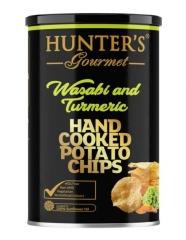 Чипсы Hunter`s Gourmet Васаби и Куркума 150 гр