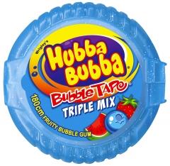 Жевательная резинка лента Wrigley's Hubba Bubba Triple mix 56 грамм