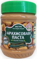 Арахисовая паста Азбука Продуктов без сахара с кусочками 340 гр