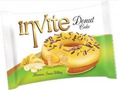 Пончик DONAT INVITE (банановая начинка) 40 грамм