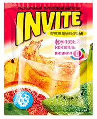 Растворимый напиток Invite Фруктовый коктейль 9 грамм
