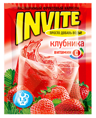 Растворимый напиток Invite Клубника 9 грамм