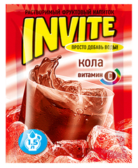 Растворимый напиток Invite Кола 9 грамм