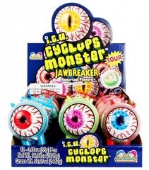 Конфеты Kidsmania Монстр Глазик с кислым порошком 85 грамм