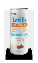 Кофе LOTTE Let's be с морской солью 240 мл