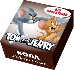Конфеты жевательные Tom and Jerry Кола 11,5 грамм