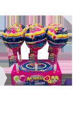 """Карамель на палочке """"Лизунец MAXI NEON"""" для девочек (карамель+2 сюрприза) 90 гр"""