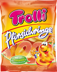 Мармелад Trolli Персиковые колечки 100 гр