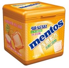 Жевательная резинка Mentos со вкусом тропических фруктов 46 грамм