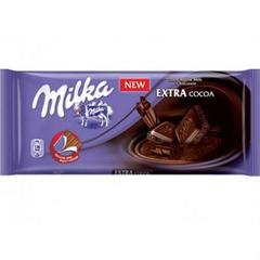 Молочный шоколад Milka Extra Cacao Dark Chocolate 100 грамм