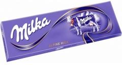 Шоколадная плитка Milka Alpine milk 250 грамм
