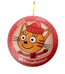 Жевательные конфеты в Подарочном Шаре Сладкая Сказка Три Кота 15 гр