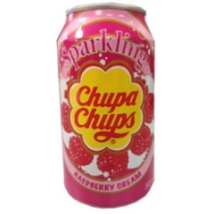 Напиток газированный Chupa Chups Малина 345 мл ж/б