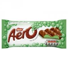 Молочный пористый шоколад Nestle Aero Перечная мята 90 гр