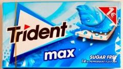 Жевательная резинка TRIDENT MAX перечная мята 27 гр