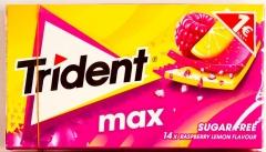 Жевательная резинка TRIDENT MAX малина-лимон 27 гр