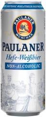 Пиво Рaulaner Вайссбир светлое нефильтр. б/а ж/б 500 мл