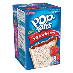 Печенье Pop Tarts 8 PS Frosted Strawberry с клубничной начинкой и глазурью 416 грамм