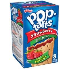 Печенье Pop Tarts 8 PS Unfrosted Strawberry с клубничной начинкой 416 грамм