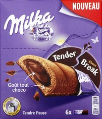 Молочный шоколад Milka Tender Break Choco 130 грамм