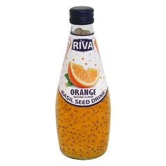 Basil seed drink Orange flavor 'Напиток Семена базилика с ароматом апельсина' 290мл