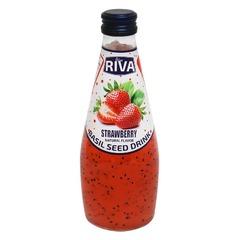 Basil seed drink Strawberry flavor 'Напиток Семена базилика с ароматом клубники' 290мл