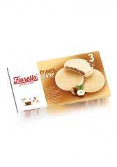 Вафли Fiorella в белом шоколаде с ореховой начинкой 60 гр