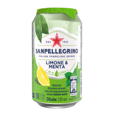 Напиток San Pellegrino Лимон Мята 330 мл ж/б
