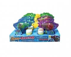 Мыльные пузыри и конфеты Дино-бластер 50 гр