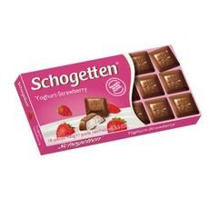 Молочный шоколад Schogetten Yoghurt-Strawberry 'Йогурт-Клубника' 100 грамм