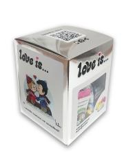 Сливочные жевательные конфеты Love is микс вкусов СЕРЕБРЯННАЯ серия 105 гр
