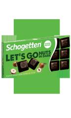 """Тёмный шоколад Schogetten LETS GO NUTS IN DARK """"Фундук"""" 100 гр"""
