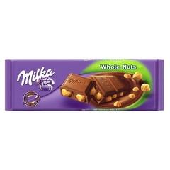 Молочный шоколад Milka Whole Nuts с цельным фундуком 250 грамм