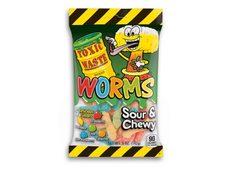 Жевательный мармелад с кислинкой Toxic Worms 142 грамма