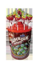 Леденец на палочке с жвачкой Super Gum Cola 16 гр