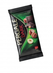 Темный шоколад Pergale с цельным фундуком 100 гр