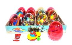 """Прозрачные пластиковые яйца с карамелью и игрушкой (кораблики) """"TITANIC """" 6 грамм"""