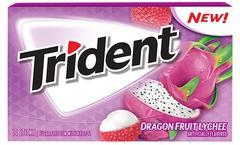 Жевательная резинка Trident Dragon Fruit Lychee 30 грамм