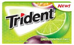 Жвачка Trident Lime Passionfruit Twist